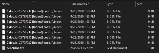 Biden virus