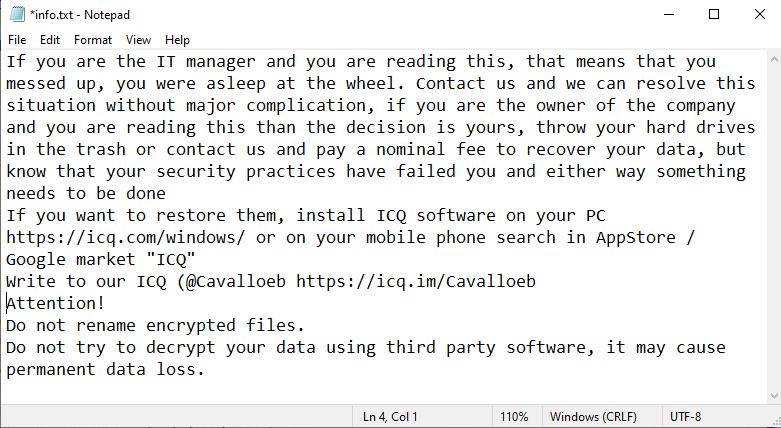 remove Cavallozipulya ransomware