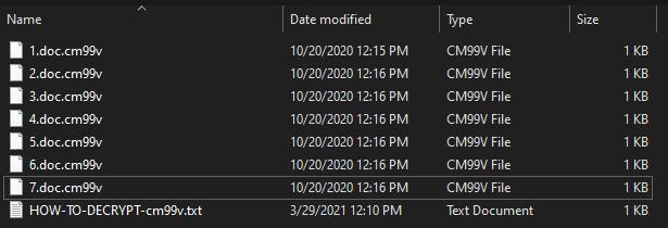 remove Cm99v 1.4 ransomware