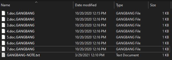 remove GANGBANG 1.4 ransomware