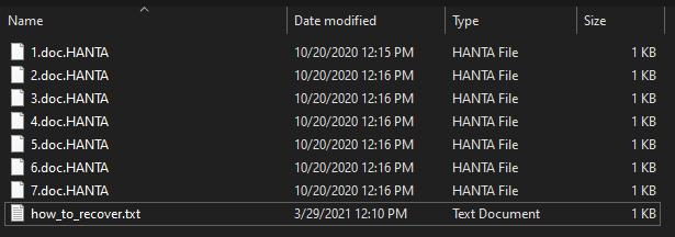 remove HANTA 1.4 ransomware