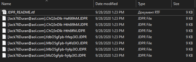 remove JDPR ransomware
