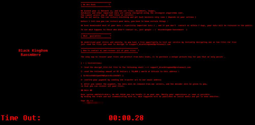 fjerne Blackkingdom ransomware
