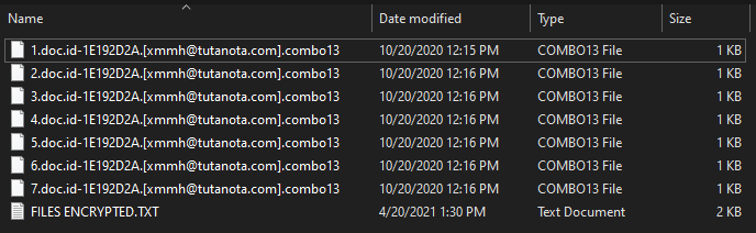 remove Combo13 ransomware