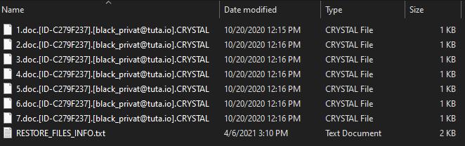 îndepărtează Cristalul 1.4 ransomware