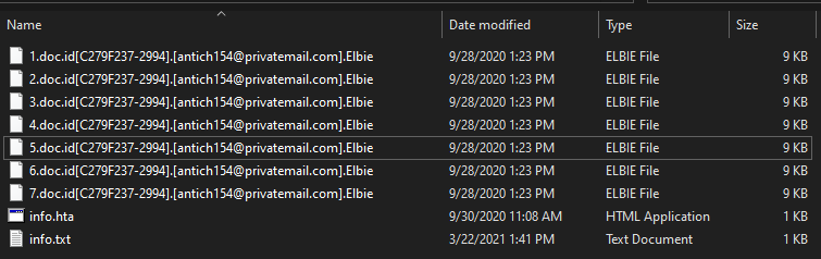remove Elbie virus