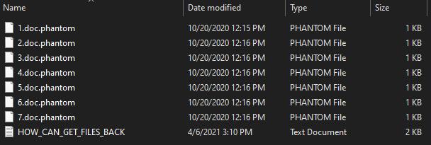 remove Phantom 1.4 ransomware