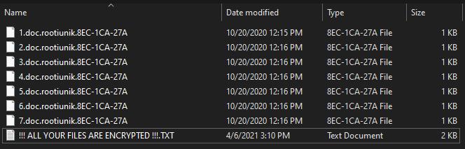 remove Rootiunik 1.4 ransomware