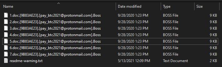 remove .Boss virus