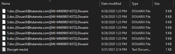 Douarix ransomware