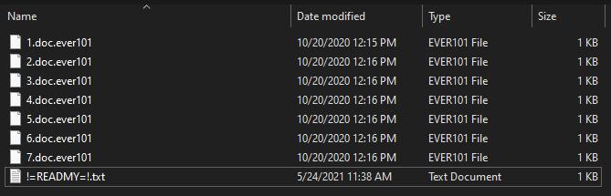 remove Ever101 1.4 ransomware