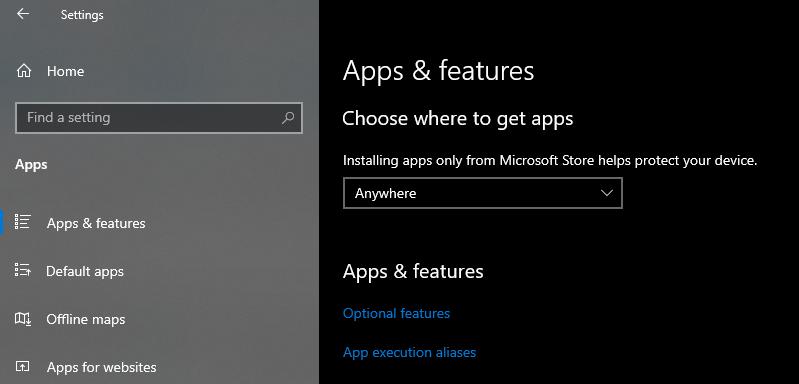 修复您要安装的应用不是经过Microsoft验证的应用