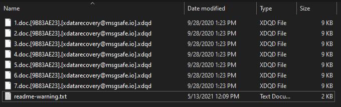 remove .xdqd virus