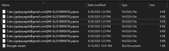 Yajoza løsepenger