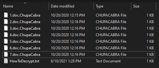 remove ChupaCabra virus