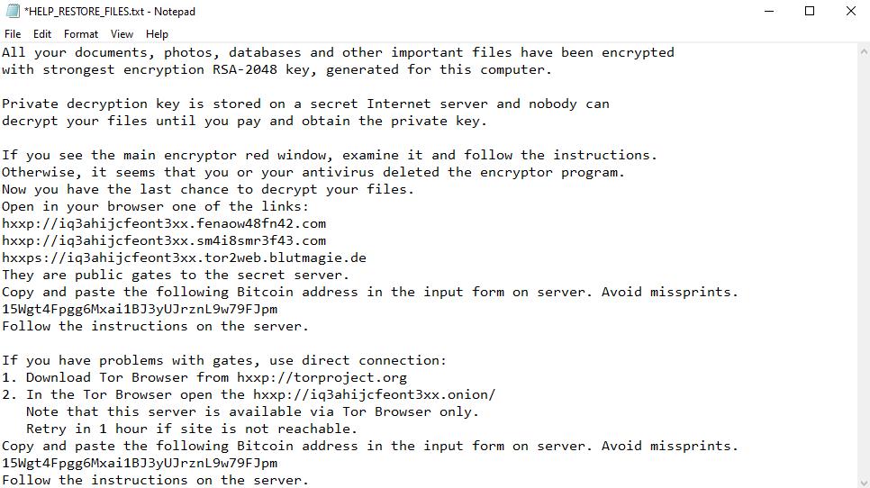 remove Exx ransomware
