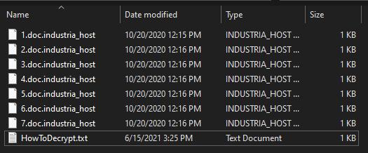 fjerne Industria_host-viruset