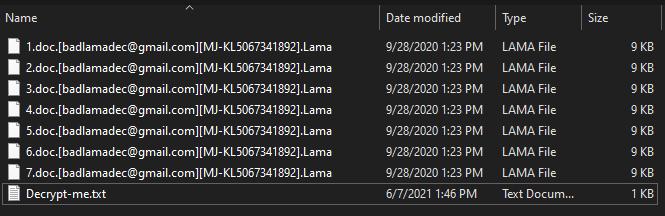 Lama ransomware