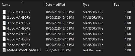 remove Mansory virus