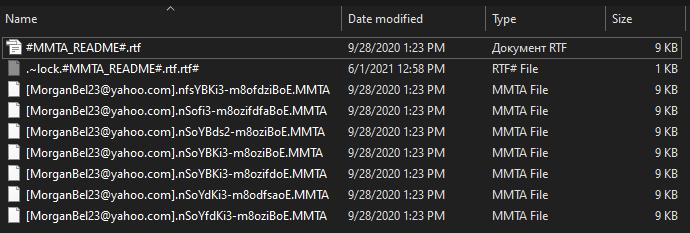 remove MMTA ransomware