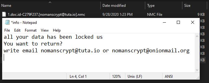 Nmc ransomware