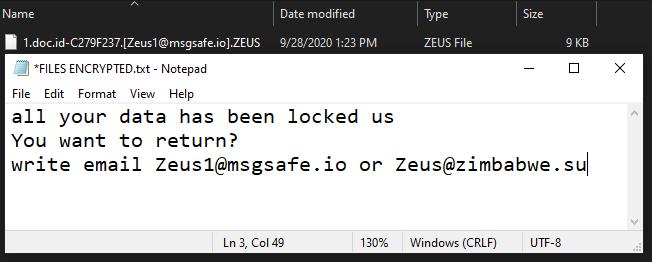 Zeus ransomware
