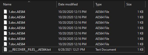 remove AES64 virus