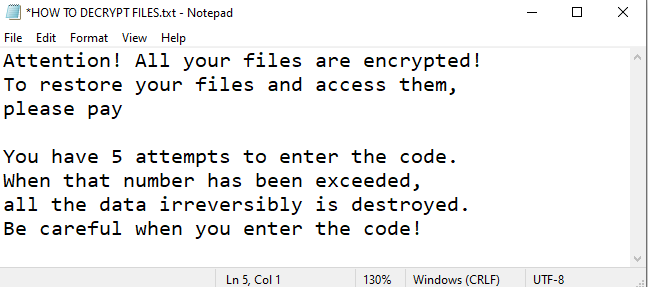 Army ransomware