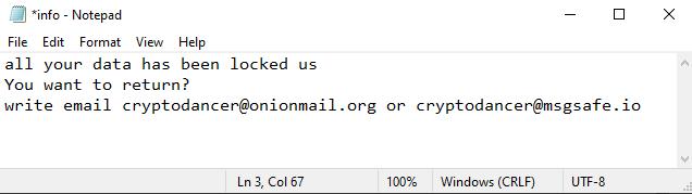 Dance ransomware