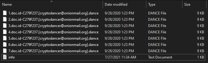 Dance virus