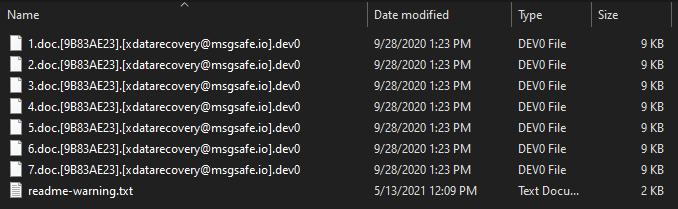 remove .dev0 virus