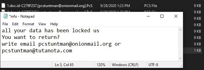 PcS ransomware