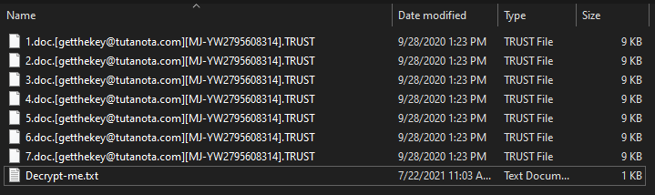Trust ransomware