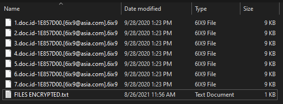 remove 6ix9 virus