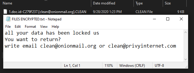 Clean ransomware