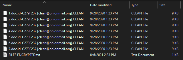 Clean virus