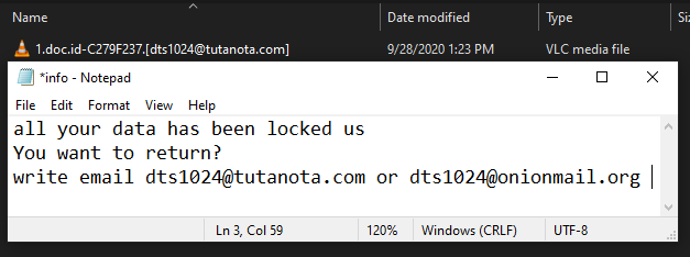 Dts ransomware