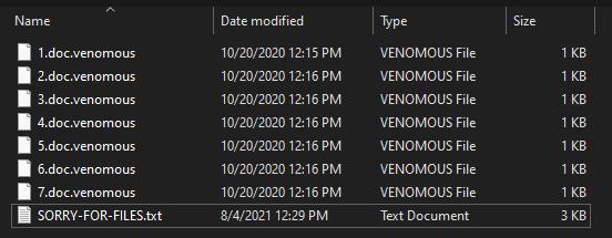 remove Venomous virus