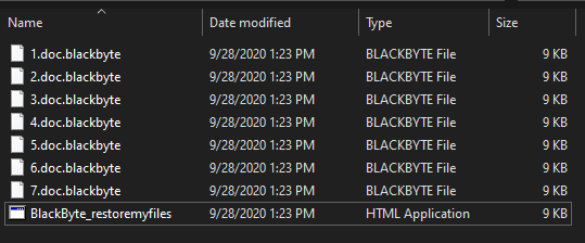 remove BlackByte ransomware