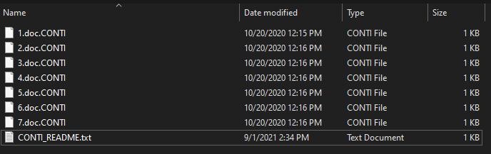 remove CONTI ransomware