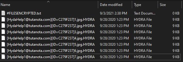 remove Hydra ransomware