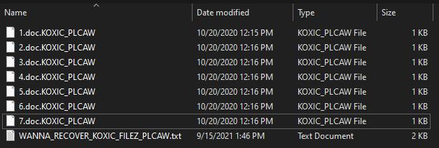 remove Koxic ransomware