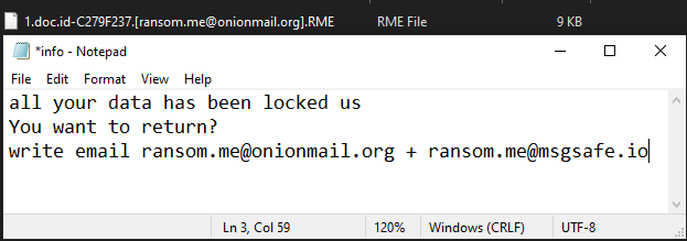 RME ransomware