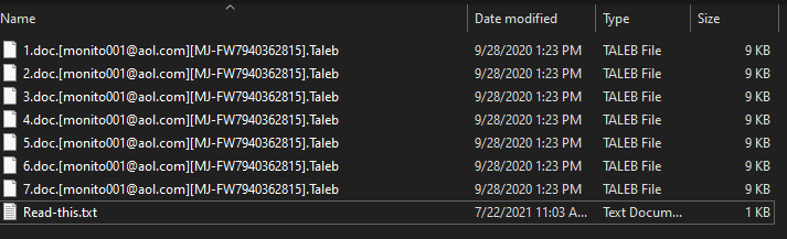 Taleb ransomware