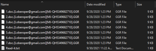 GGR ransomware